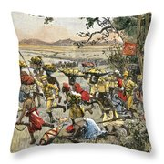 Stanley Leads Attack On Hostile Tribe Throw Pillow