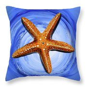 Star Of Mary Throw Pillow by J Vincent Scarpace