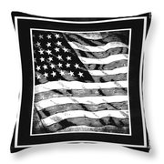 Star Spangled Banner Bw Throw Pillow