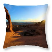 Starburst At Delicate Arch Throw Pillow
