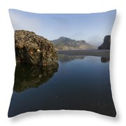 Starfish Beach Throw Pillow by Debra and Dave Vanderlaan