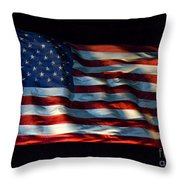 Stars And Stripes At Night Throw Pillow