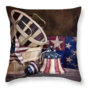 Stars And Stripes Still Life Throw Pillow by Tom Mc Nemar