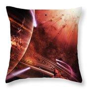 Starships Hone Their Skills Throw Pillow