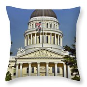 State Capitol Building Sacramento California Throw Pillow by Christine Till