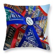State Flowers Throw Pillow