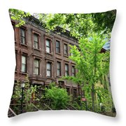 Stately Ny Street Throw Pillow