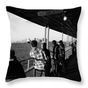 Staten Island Ferry 2 Throw Pillow