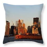 Staten Island Ferry 3 Throw Pillow