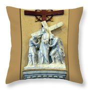 Station Of The Cross 02 Throw Pillow