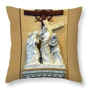 Station Of The Cross 04 Throw Pillow