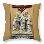 Station Of The Cross 05 Throw Pillow
