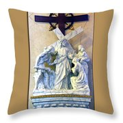 Station Of The Cross 08 Throw Pillow