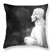 Statue 06 Black And White Throw Pillow