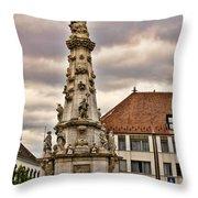 Statue At St Matthias Church Throw Pillow