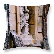 Statue In A Niche Throw Pillow