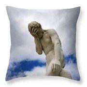 Statue. Jardin Des Tuileries. Paris. Throw Pillow
