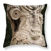 Statue Of Greek Soldier Throw Pillow
