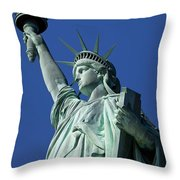 Statue Of Liberty Throw Pillow by Brian Jannsen