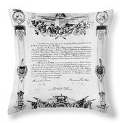 Statue Of Liberty: Deed Throw Pillow