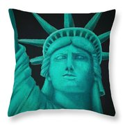 Statue Of Liberty ... Throw Pillow