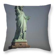 Statue Of Liberty, New York, Usa Throw Pillow