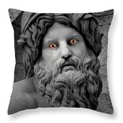 Statue With Eyes Throw Pillow