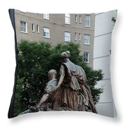 Statues In Nashville Throw Pillow