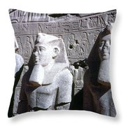 Statues Of Ramses II Throw Pillow by Granger