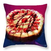 Stawberry Sin Throw Pillow