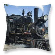 Steam Engine And Sailboats Throw Pillow