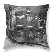 Steam Engine Eighty Two Throw Pillow