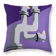 Steam Pipes Throw Pillow