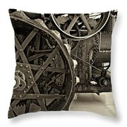 Steam Power Monochrome Throw Pillow