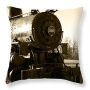 Steam Power Throw Pillow