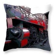 Steam Punk Railroad Throw Pillow