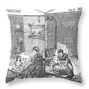 Steam Washer, 1872 Throw Pillow