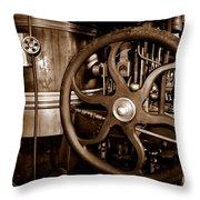 Steam Wheel Throw Pillow