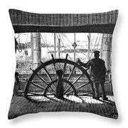 Steamboat: Great Republic Throw Pillow