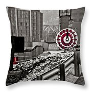 Steamboat Streets Throw Pillow