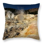 Steaming Organge Crust Throw Pillow