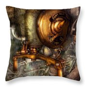 Steampunk - Naval - Shut The Valve  Throw Pillow