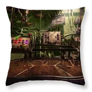 Steampunk - Naval - This Is Where I Do My Job Throw Pillow