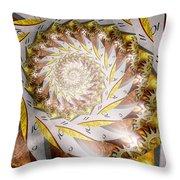 Steampunk - Spiral - Time Iris Throw Pillow