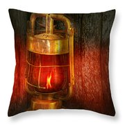 Steampunk - Red Light District Throw Pillow