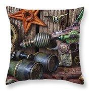 Steampunk Still Life Throw Pillow