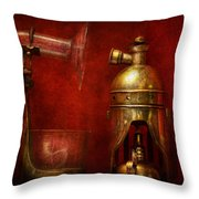 Steampunk - The Torch Throw Pillow