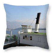 Steamship Throw Pillow