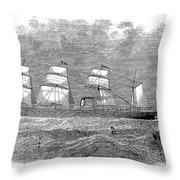 Steamship: Republic Throw Pillow