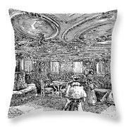 Steamship Salon, C1890 Throw Pillow by Granger
